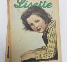 Collection d'hebdomadaires « Lisette » « Journal des Fillettes » 1939