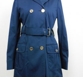 Trench, imperméable bleu VERSACE taille S