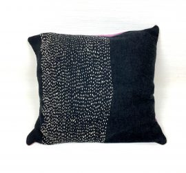 Coussin, collection LES BRODÉS _Anthracite