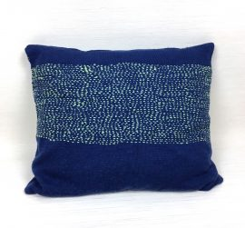 Coussin, collection LES BRODÉS _Outremer