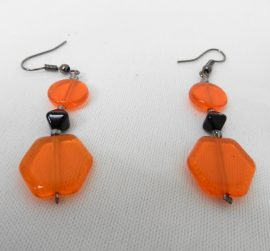 Boucles d'oreille en verre orange – MANZABULL